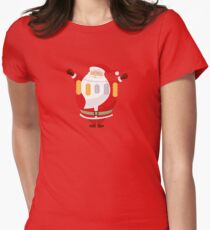 Lucky Santa Claus Fitted T-Shirt