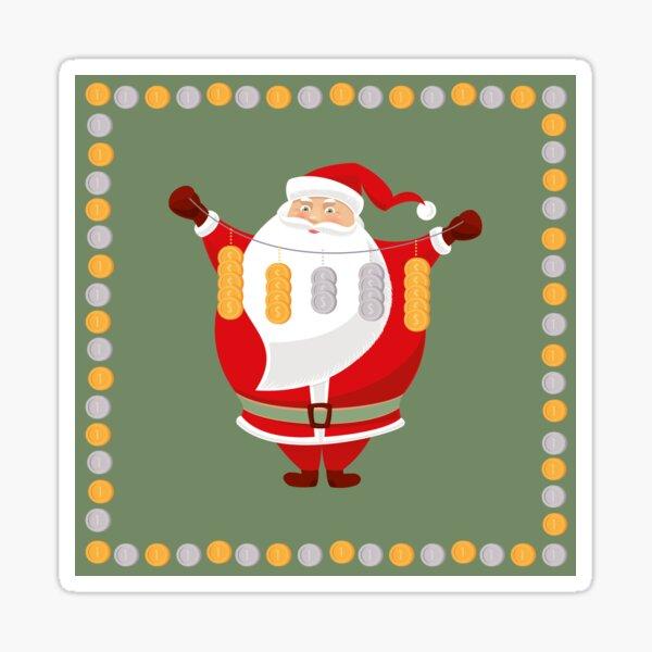 Lucky Santa Claus Glossy Sticker