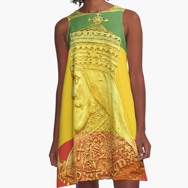 Haile Selassie King of Kings  A-Line Dress