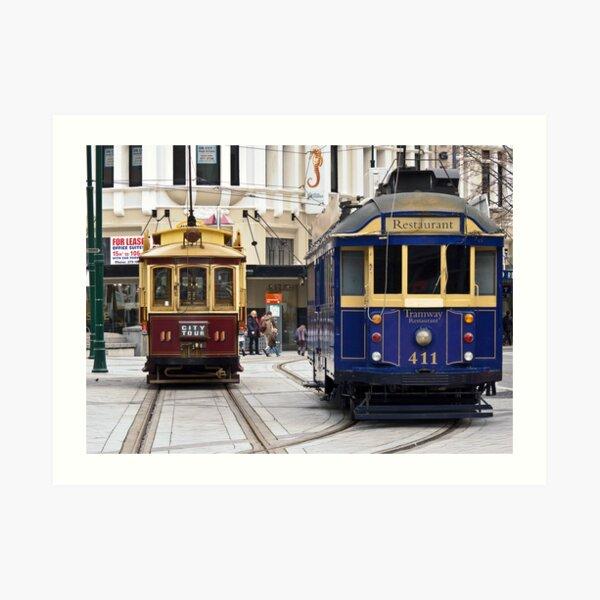 Christchurch Trams Art Print