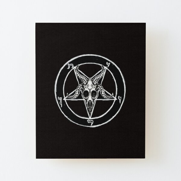 Baphomet PATCH pentagram canvas screen print HORROR pagan satan Occult