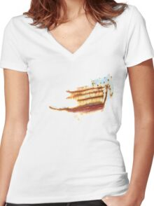 rusted and decayed Women's Fitted V-Neck T-Shirt