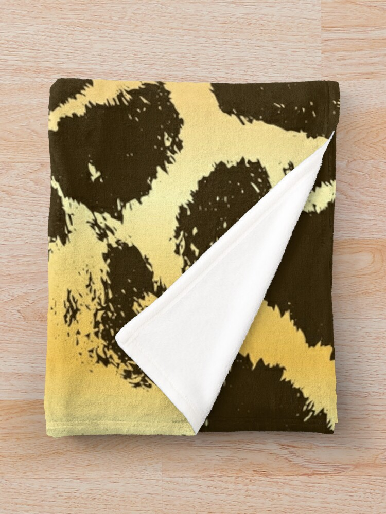 Alternate view of Giraffe Spots Throw Blanket