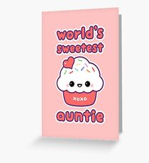 World's Sweetest Auntie Greeting Card