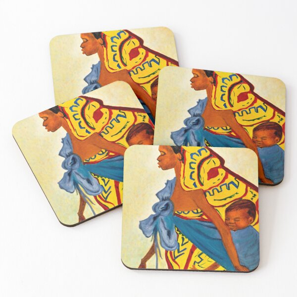 Mama Toto African Mother and Child Coasters (Set of 4)