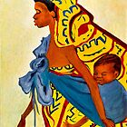 Mama Toto African Mother and Child by Sher Nasser