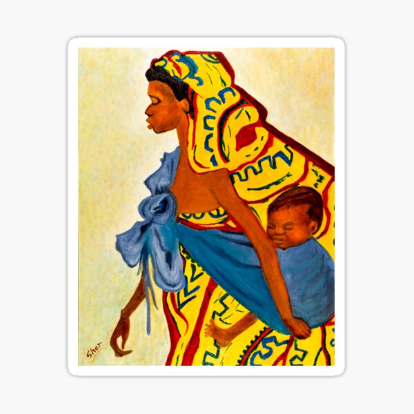 Mama Toto African Mother and Child Sticker
