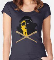 Baseball Furies Skull & Crossbones Women's Fitted Scoop T-Shirt