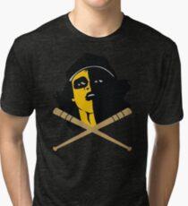 Baseball Furies Skull & Crossbones Tri-blend T-Shirt
