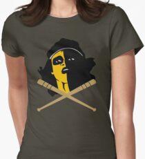 Baseball Furies Skull & Crossbones Women's Fitted T-Shirt