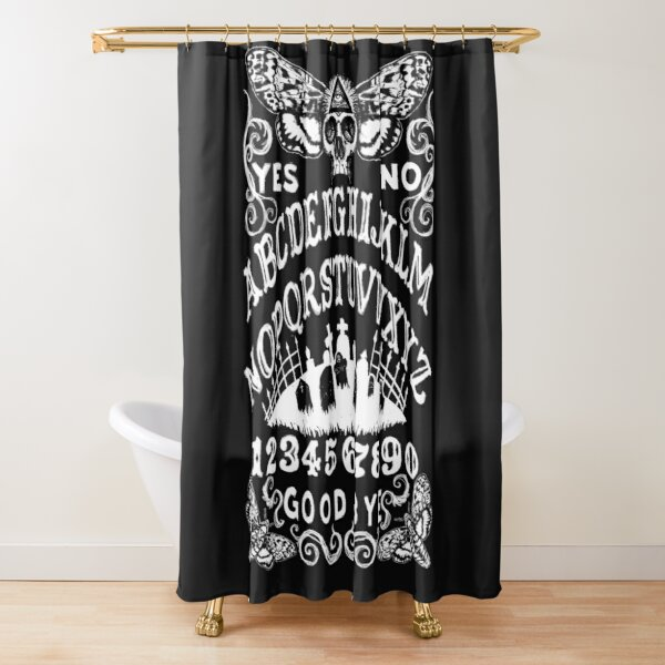 Death Head Moth Witch Board Shower Curtain