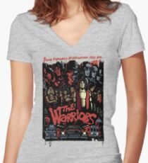 The Warriors Poster Women's Fitted V-Neck T-Shirt