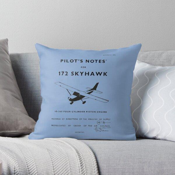 Pilots Notes for Cessna 172 Throw Pillow