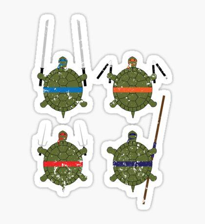 Undefined Age Martial Artist Tortoises Sticker
