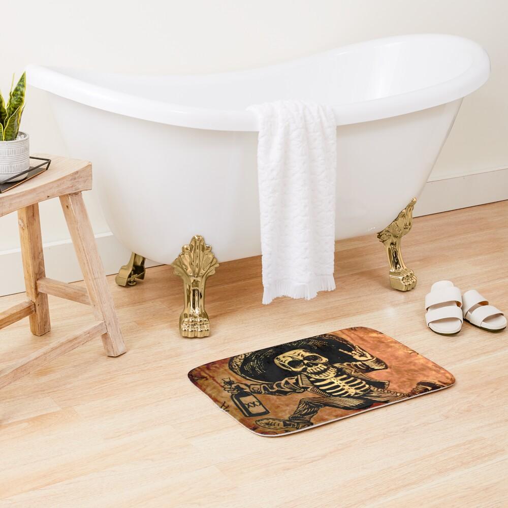 Posada Day of the Dead Outlaw Bath Mat