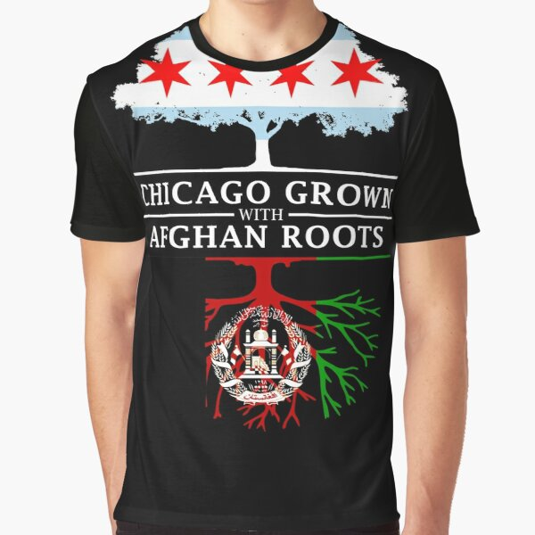 Chicago Grown with Afghan Roots Graphic T-Shirt