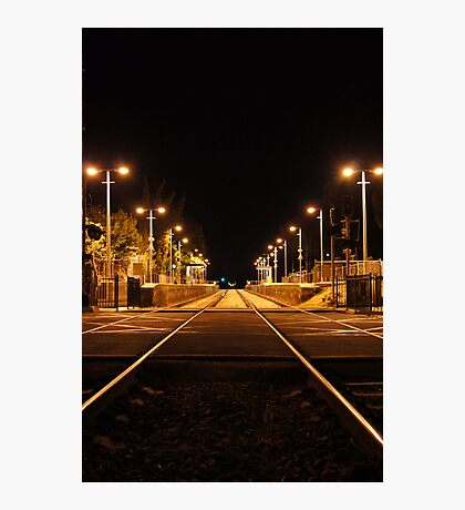 Railway Line at night Photographic Print