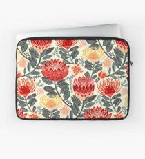 Protea Chintz - Grey & Red Laptop Sleeve