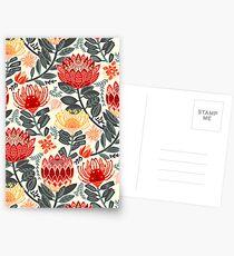 Protea Chintz - Grey & Red Postcards