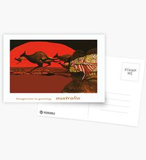 Kangaroos in Passing Postcards
