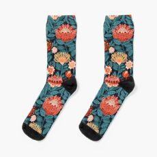 Protea Chintz - Navy Sock