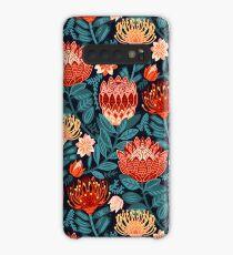 Protea Chintz - Navy Case/Skin for Samsung Galaxy