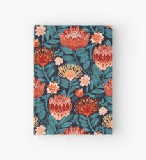 Protea Chintz - Navy Hardcover Journal