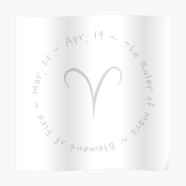 Aries Zodiac Sign Poster