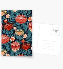 Protea Chintz - Navy Postcards
