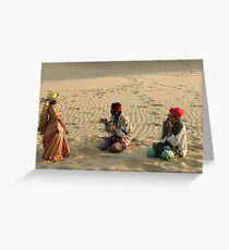 Entertainment in the Rajasthan Desert Greeting Card