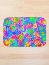 Random virtual color pixel abstraction Bath Mat