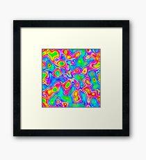 Random virtual color pixel abstraction Framed Print