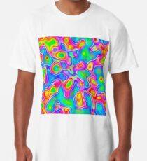 Random virtual color pixel abstraction Long T-Shirt