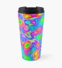 Random virtual color pixel abstraction Travel Mug