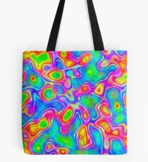 Random virtual color pixel abstraction Tote Bag