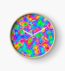 Random virtual color pixel abstraction Clock
