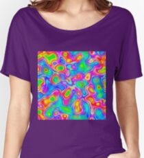 Random virtual color pixel abstraction Relaxed Fit T-Shirt