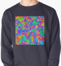 Random virtual color pixel abstraction Pullover Sweatshirt