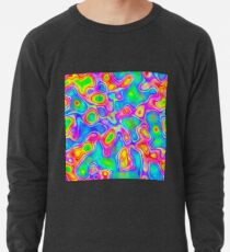 Random virtual color pixel abstraction Lightweight Sweatshirt