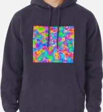 Random virtual color pixel abstraction Pullover Hoodie