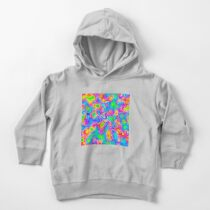 Random virtual color pixel abstraction Toddler Pullover Hoodie