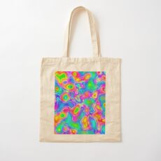 Random virtual color pixel abstraction Cotton Tote Bag