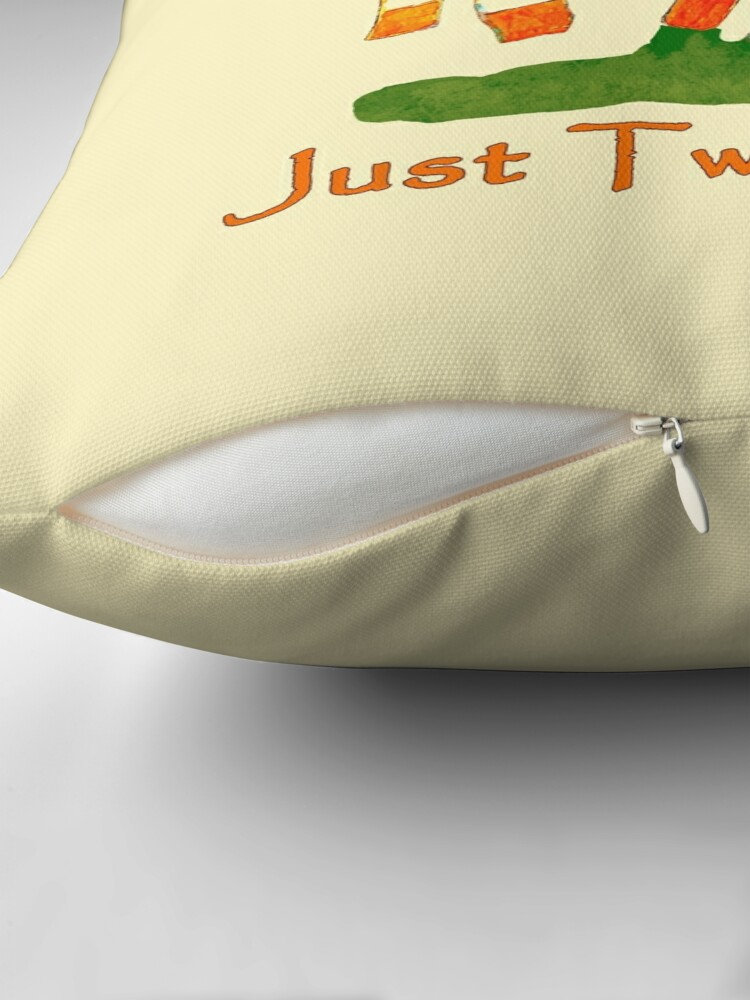 Alternate view of Just Two Cows Throw Pillow