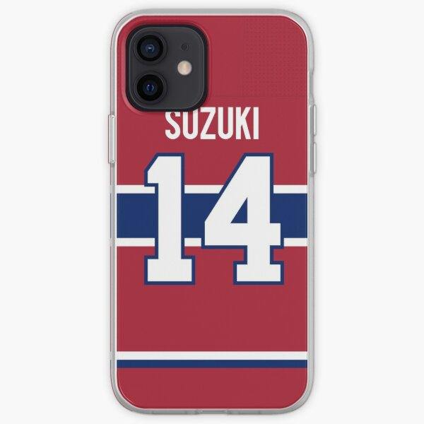 Montreal Canadiens Nick Suzuki Home Jersey Back Phone Case iPhone Soft Case