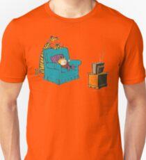 calvin and hobbes wacthing tv Unisex T-Shirt