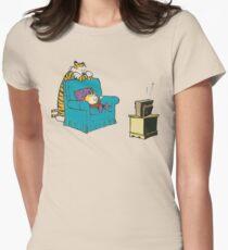 calvin and hobbes wacthing tv T-Shirt