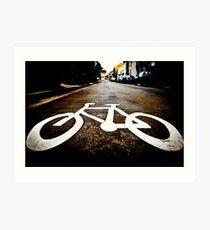 Biking through Redfern Art Print