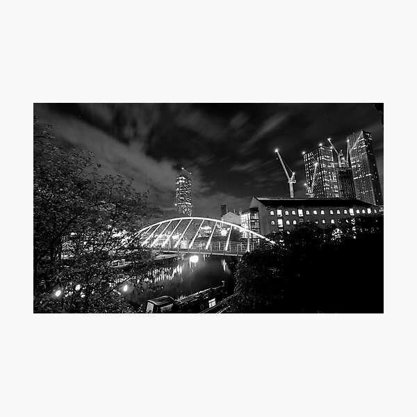 Castlefield lights Photographic Print
