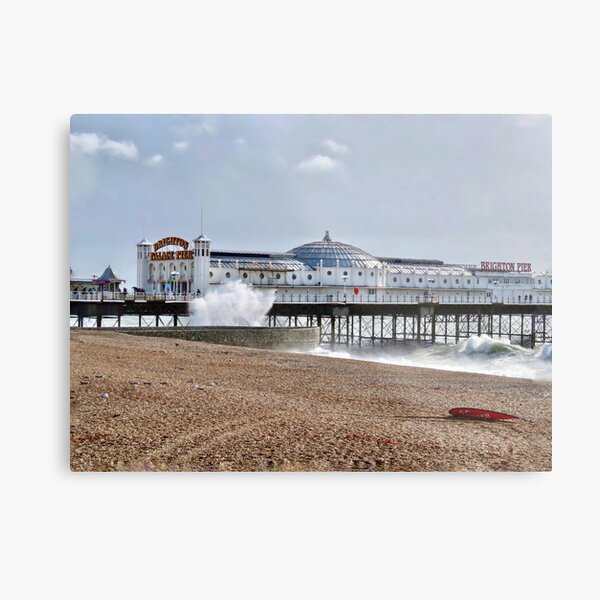 Brighton pier. Blustery day Metal Print