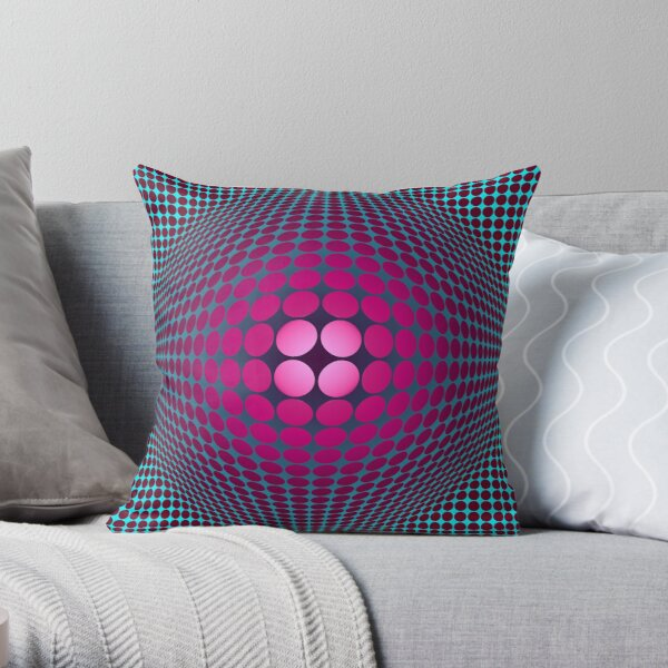 Victor Vasarely Homage 32 Throw Pillow